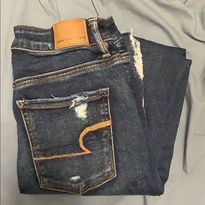 A&E Distressed Jeans